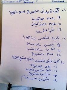 Workshop application in Arabic
