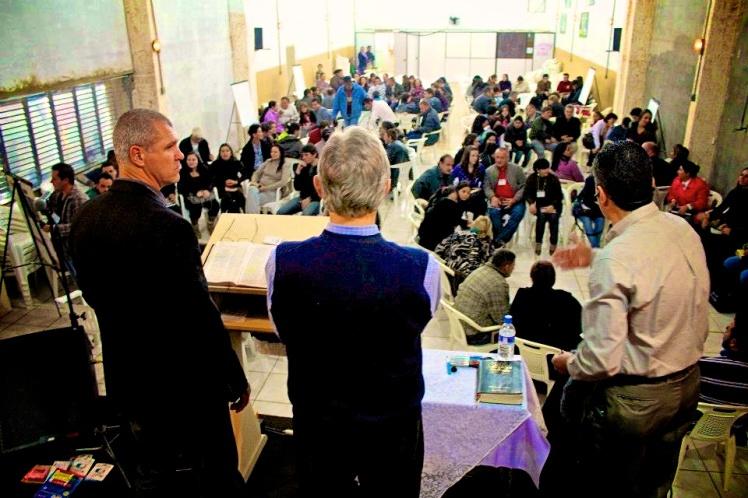 Phil Graf, Linus Morris teaching Romans with Sammy interpreting