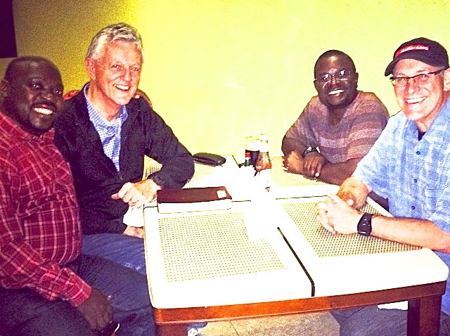 Uganda Trainers (Chris and Moses) with Doug and me.