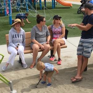 Sharon, Dani, Kristin, and two Linuses