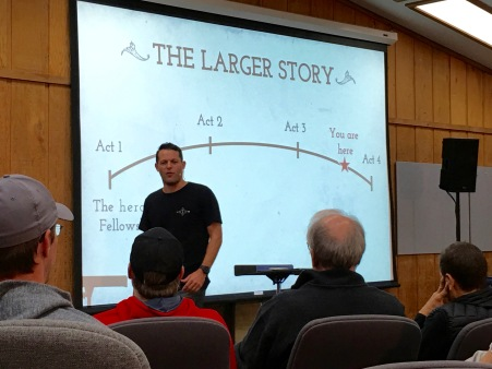 Linus Jr, presenting the Larger Story we are in.